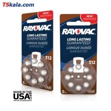باتری سمعک ریوواک Rayovac ZA312 Hearing Aid Battery 8x