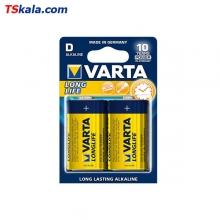 باتری سایز بزرگ VARTA LR20 LONG LIFE Alkaline D 2x