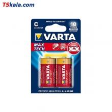 باتری سایز متوسط VARTA LR14 MAX TECH Alkaline C 2x
