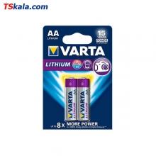 باتری قلمی وارتا VARTA FR6 LITHIUM AA 2x