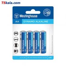 باتری نیم قلمی وستینگهاوس Westinghose LR6 Dynamo Alkaline AA 4x