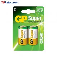 باتری سایز متوسط GP LR14 Super Alkaline C 2x