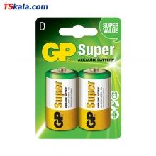 باتری سایز بزرگ GP LR20 Super Alkaline D 2x