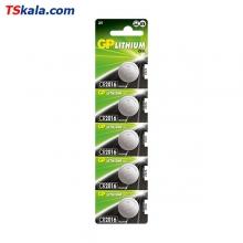 باتری سکه ای جی پی GP CR2016 Lithium Battery 5x